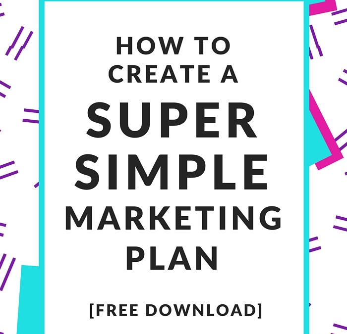 Free One Page Marketing Plan  Nell Casey Creative